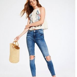 NWT Free people destroyed jeans size 30